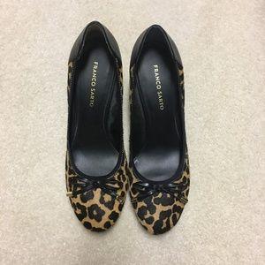 Franco Sarto Leopard Print Heels